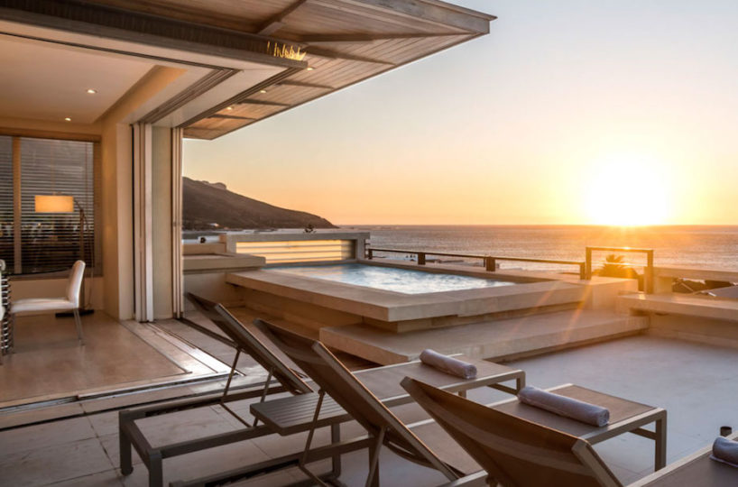 Penthouse Accommodation Camps Bay - Pool Terrace